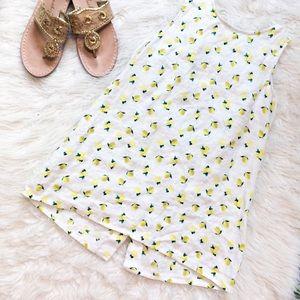 🍋 Cynthia Rowley Button Back linen tank lemon